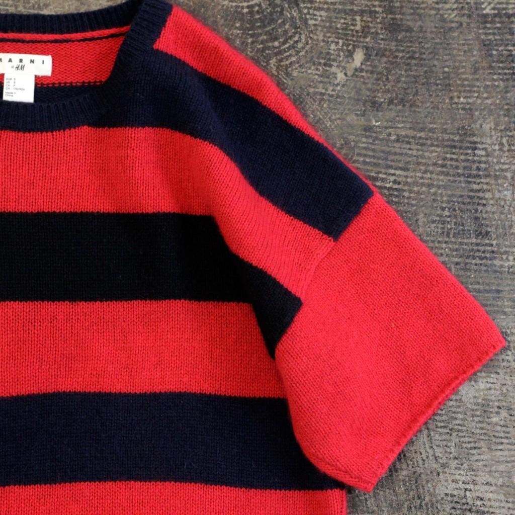 MARNI at H&M S/S Multicolor Border Cashmere Knit