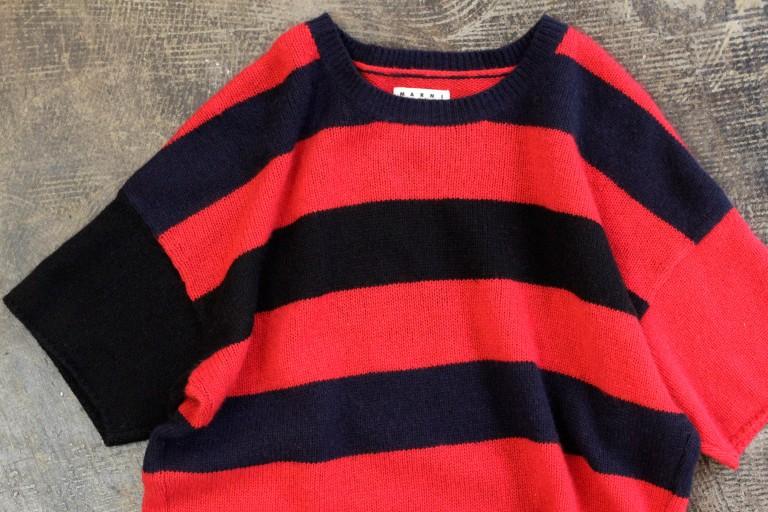 MARNI at H&M S/S Multicolor Border Cashmere Top