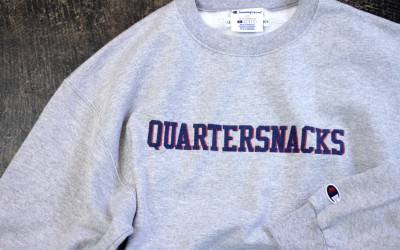 QUARTERSNACKS Double Color Logo Sweat