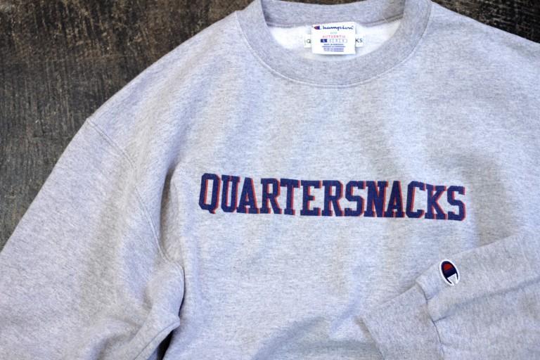 QUARTERSNACKS Double Color Logo Sweat