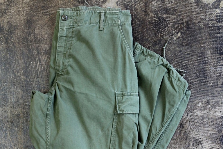 U.S. ARMY Vintage 60′s Rip Stop Jungle Fatigue Trousers