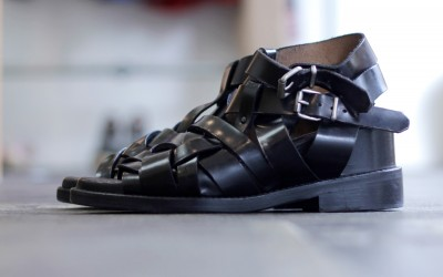 Acne Studios Belted Leather Sandal