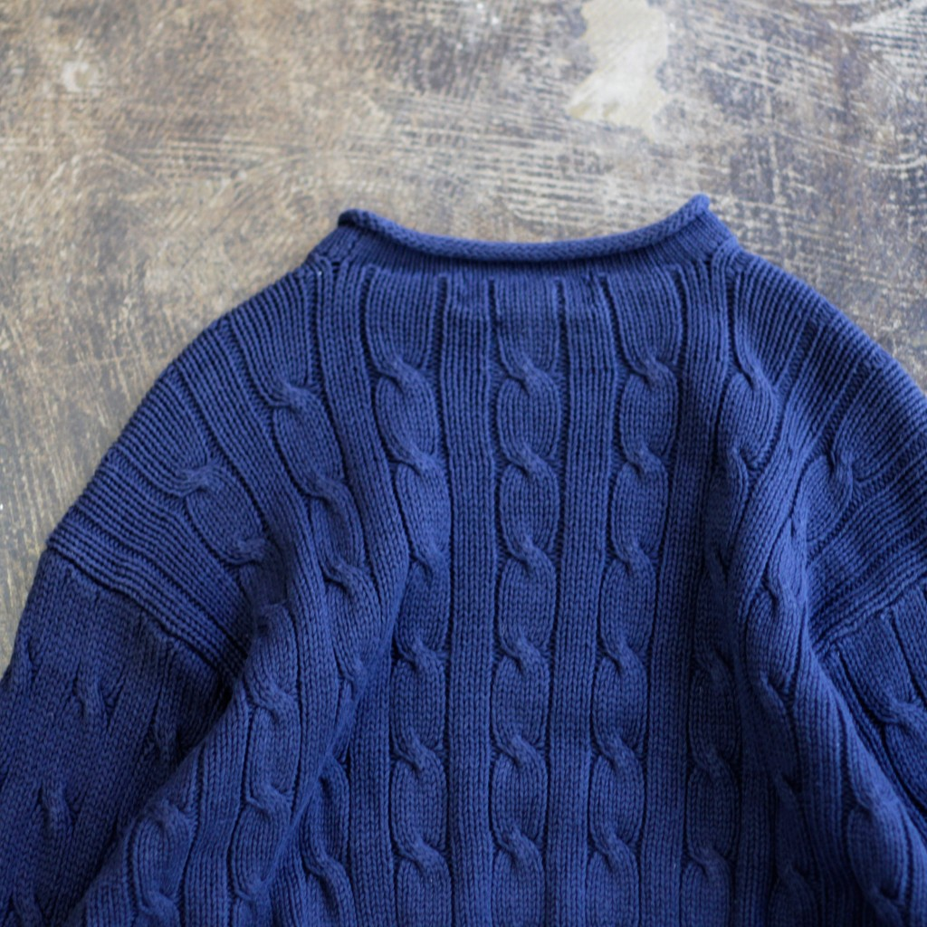 POLO by Ralph Lauren 90's Roll-Neck Cotton Cable Knit
