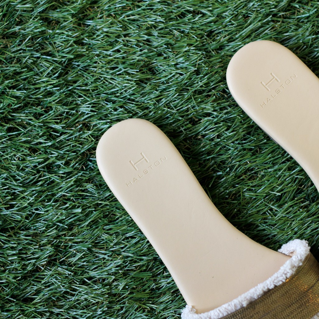 HALSTON Gold Sandal