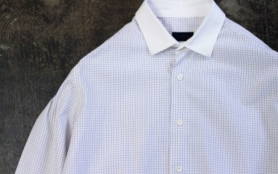 LANVIN Graph Check Cleric Shirt