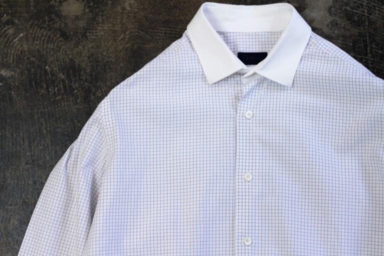 LANVIN Graph Check Cleric Shirt