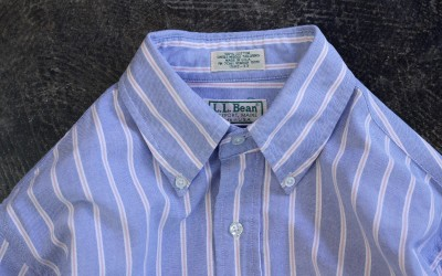 "L.L.Bean 80′s~ OX B.D Stripe Shirts ""Made in U.S.A"""