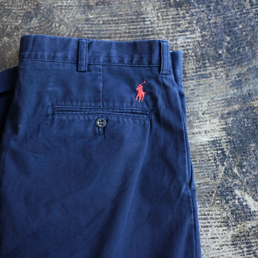 POLO by Ralph Lauren Back Logo Tuck Cotton Pants