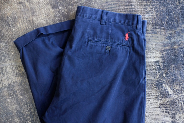 POLO by Ralph Lauren Back Logo Tuck Cotton Pants