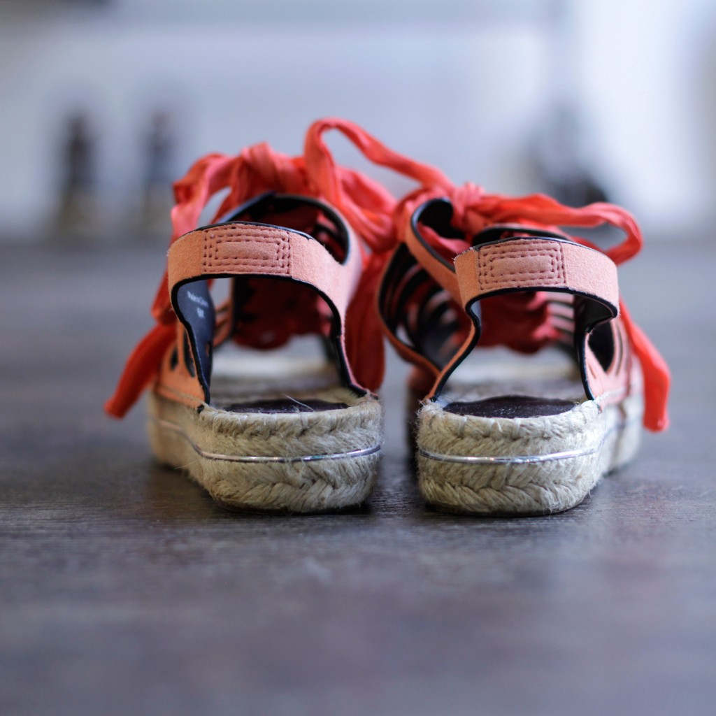 REBECCAMINKOFF Lace Up Espadrille Sandal