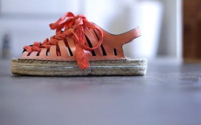 REBECCA MINKOFF Lace Up Espadrille Sandal