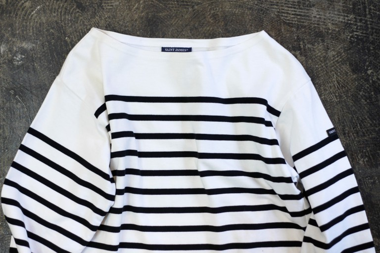 SAINT JAMES L/S Border T-Shirts