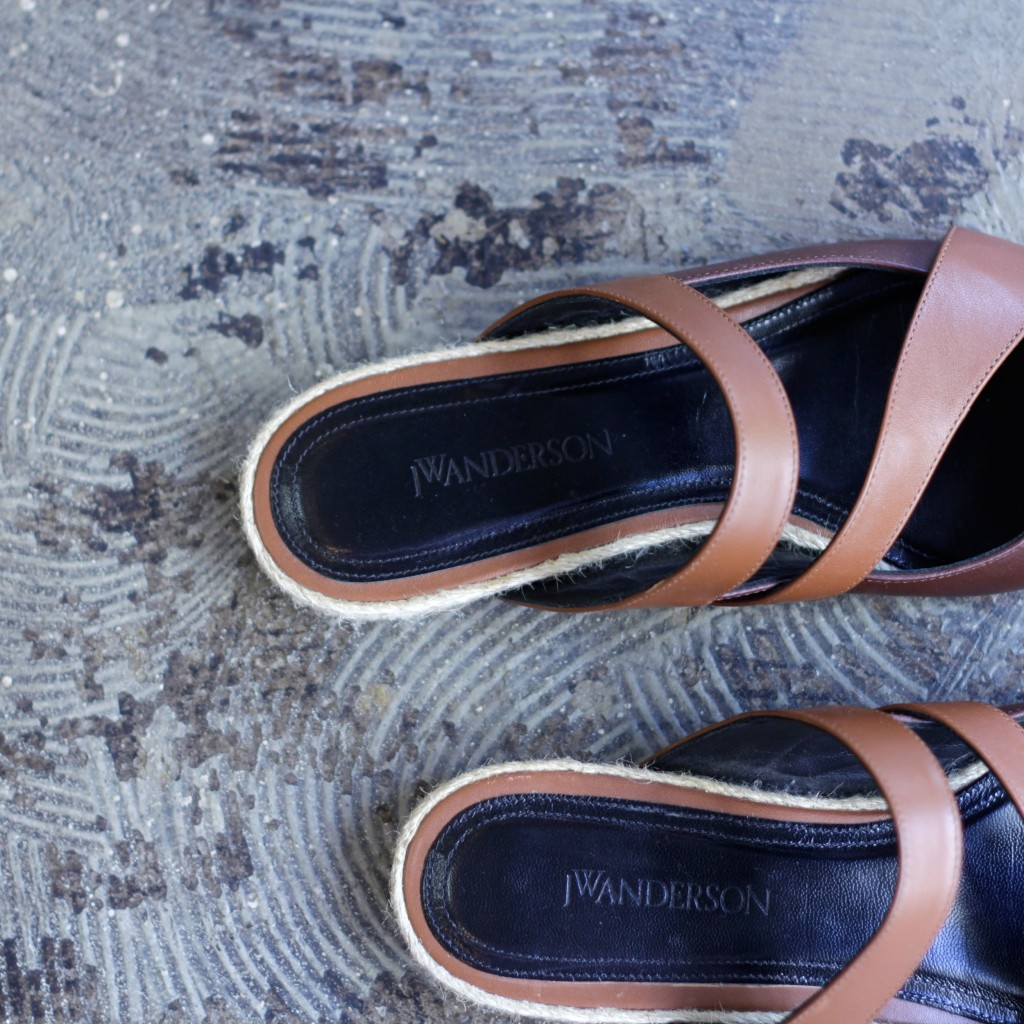 J.W. ANDERSON Double Strap Pointed Sandal
