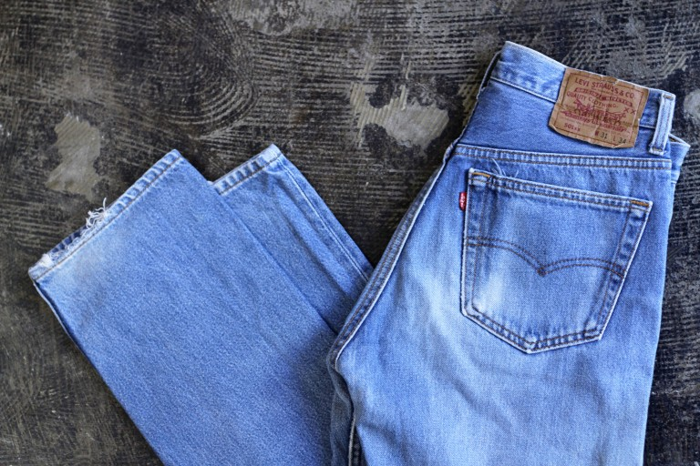 """Levi's 501 Vintage Blue Denim """"Made in U.S.A"""""""