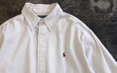 POLO COUNTRY 90′s Embroidery Logo Cotton Shirt