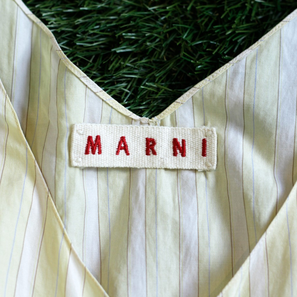 MARNI Stripe Sleeveless Top
