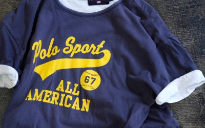 OLD POLO SPORT Double Face Baseball T-Shirts