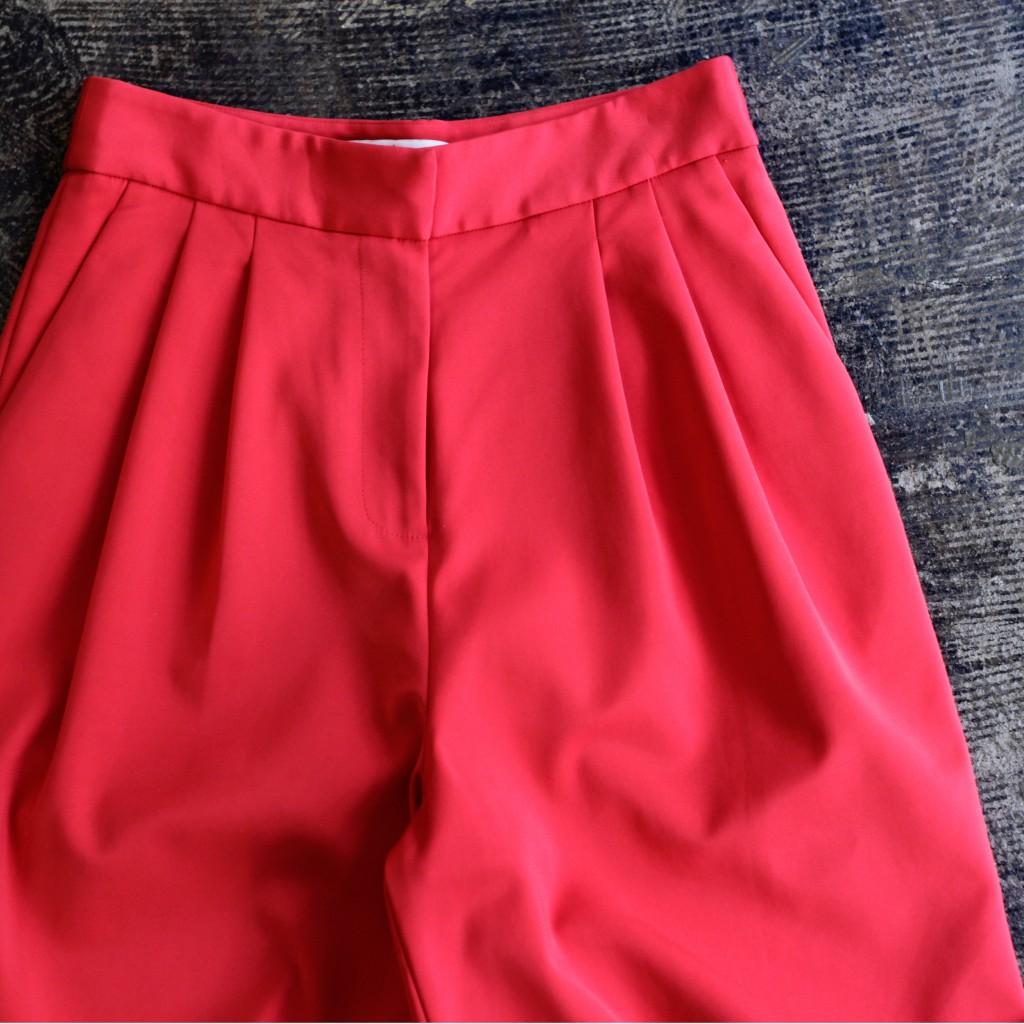 tibi Hi-Waist Wide Tuck Pants