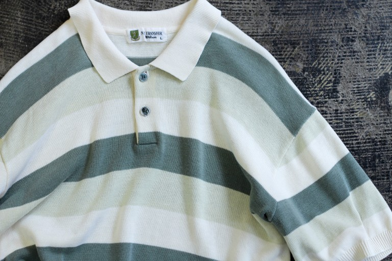 Wilson N.Y.TRANSFER Cotton Knit Polo Shirts
