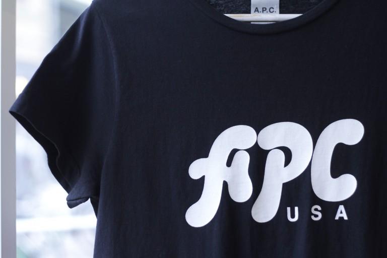 A.P.C. U.S. Collection Logo T-Shirts