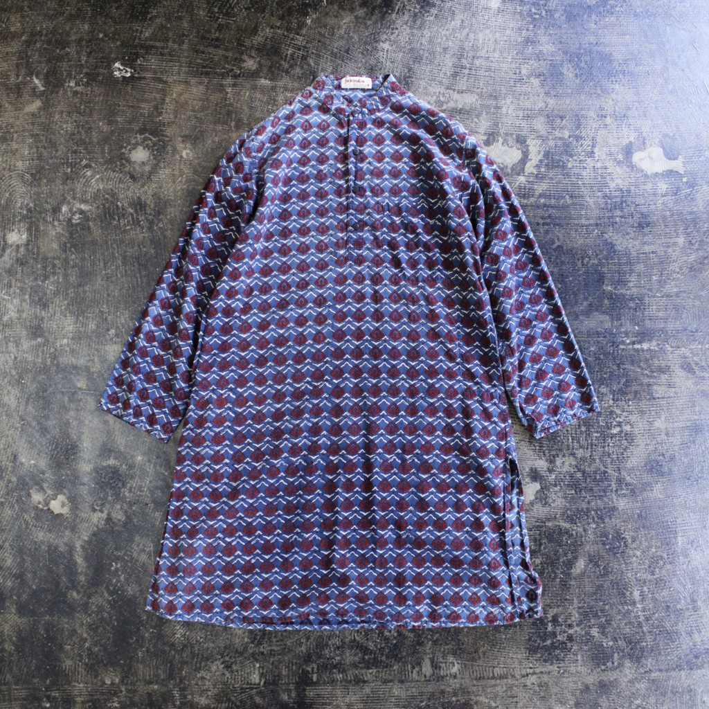 Vintage Stand Collar Shirts One Piece