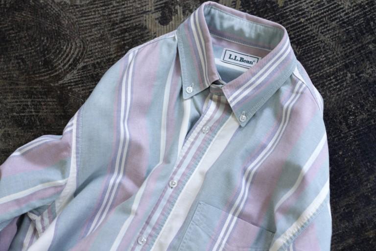 """L.L.Bean 90′s OX B.D Stripe Shirts """"Made in U.S.A"""""""