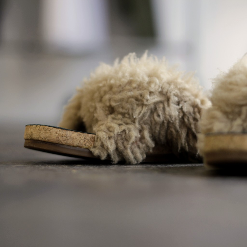 Chloe Flat Fur Shoes