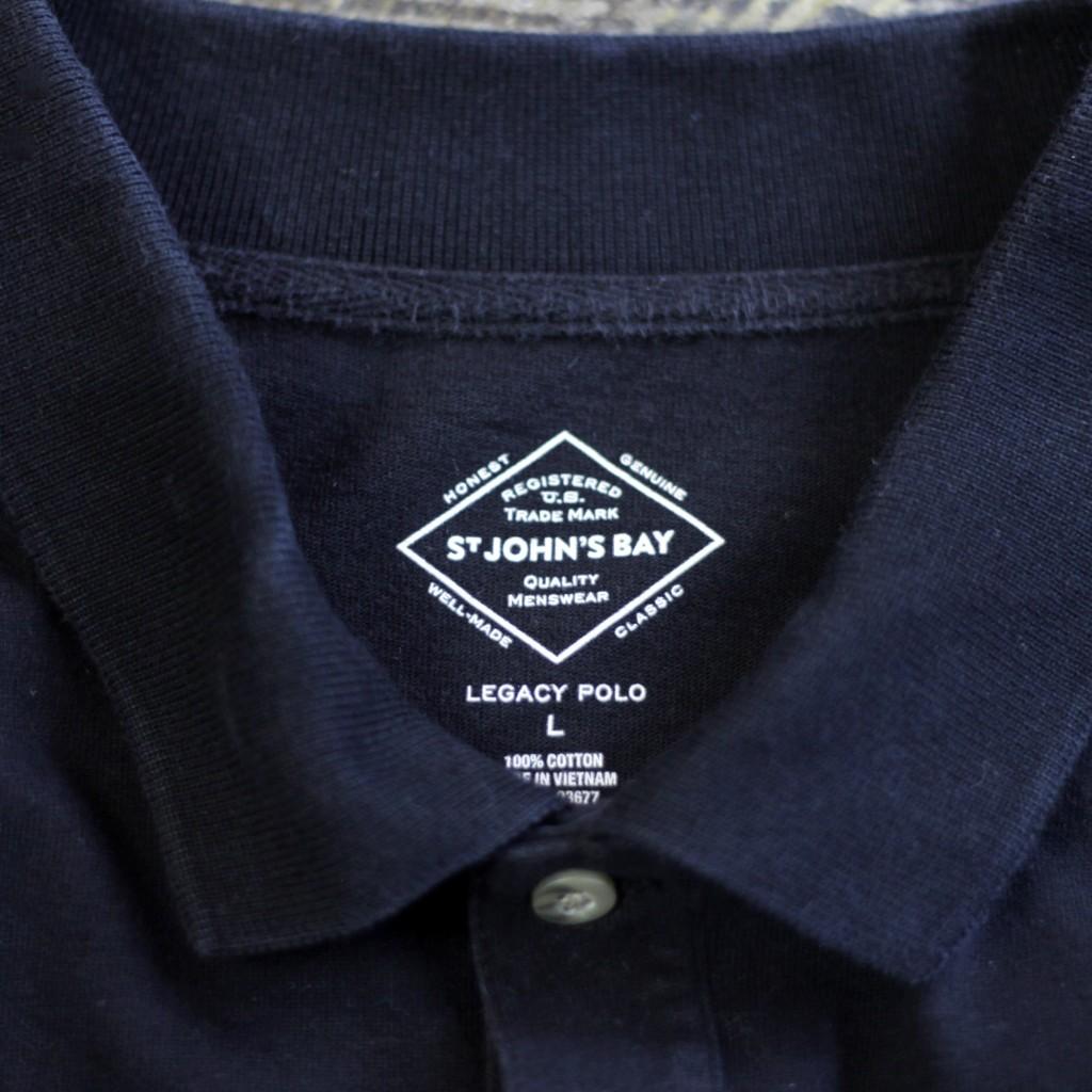 ST. JOHN'S BAY L/S Cotton Polo Shirts