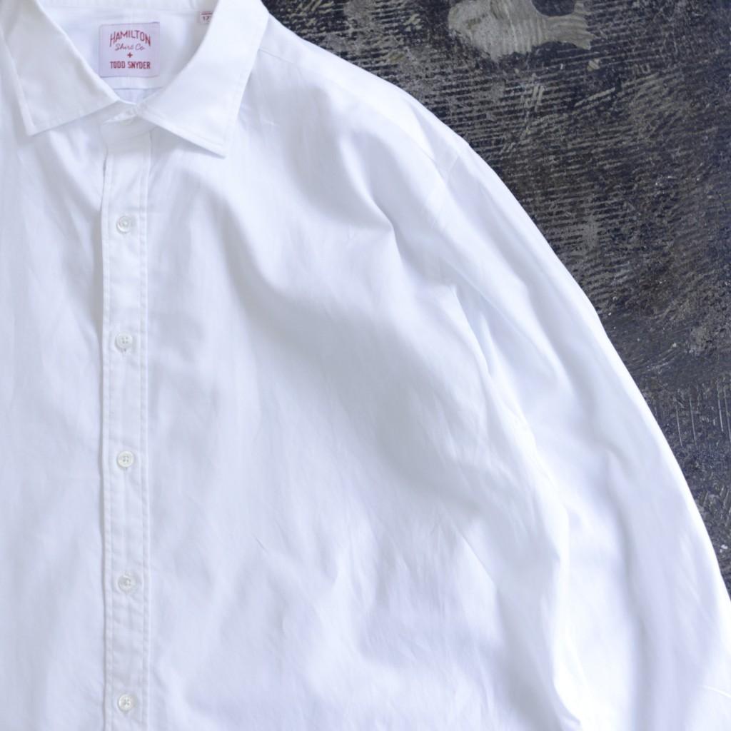 "TODD SNYDER × HAMILTON L/S White Shirt ""Made in U.S.A"""